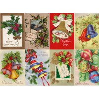 "Stickers (8pics 2.5""x3.5""each) Vintage Christmas Bells Decor"