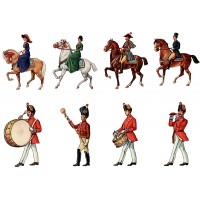 "Stickers (8pics 2.5""x3.5""each) Vintage Circus Horse Rider"