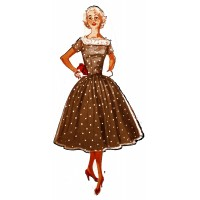 "Vintage Fashion Girl - Fifties 06 (2"" x 4"")"