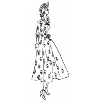 "Vintage Fashion Girl - Fifties 10 (2"" x 4"")"