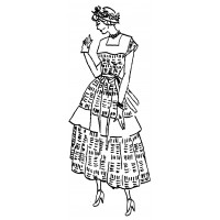 "Vintage Fashion Girl - Fifties 12 (2"" x 4"")"