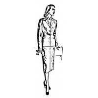 "Vintage Fashion Business Suit 01 (2"" x 4"")"