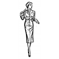"Vintage Fashion Business Suit 03 (2"" x 4"")"