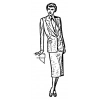 "Vintage Fashion Business Suit 04 (2"" x 4"")"