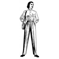 "Vintage Fashion Business Suit 06 (2"" x 4"")"