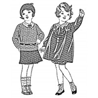 "Vintage Fashion Children 01 (2.5"" x 3"")"
