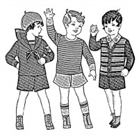 "Vintage Fashion Children 03 (3"" x 3"")"