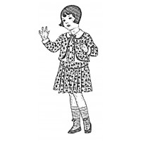"Vintage Fashion Children 08 (2"" x 3"")"