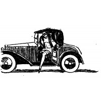 """Girl out of the Car. Noir series (2"""" x 3"""")"""