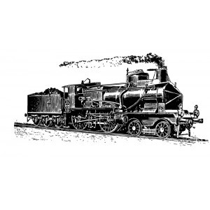 "Dashing Steam Locomotive (2""x3"")"