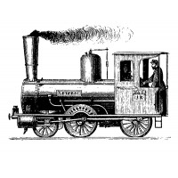 "Old Steam Locomotive (2.5"" x3"")"