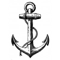 "Anchor Engraving (big size) (2.5"" x 4"")"