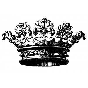 "Crown Engraving [Large] (2.5"" x 4"")"