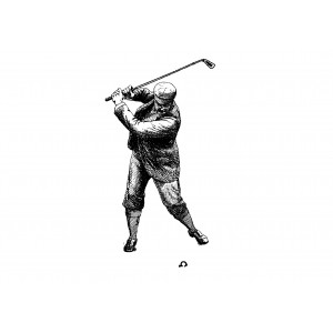 "Golf Player (2.5"" x 3.5"")"