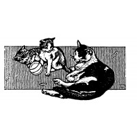 "Cats playing with ball Engraving (2"" x 3"")"