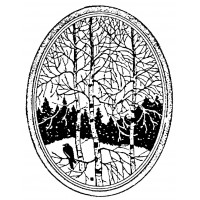 "Birch Tree at Winter (2.5"" x 3"")"
