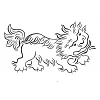 "Roaring Leon chinese style (2"" x 2.5"")"