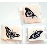 "Three Butterflies (2"" x 2"")"