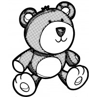 "Teddy Bear [small size] (2"" x 2"")"