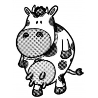 "Cow [small size] (2"" x 2.5"")"