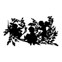 "Cherubs in Bush (2"" x 3"")"
