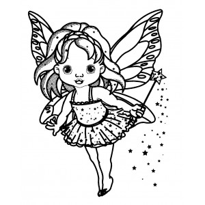 "Little Fairy with Magic Wand (2.5"" x 3.5"")"