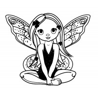 "Young Fairy Pixie (2.5"" x 3"")"