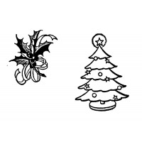 """Christmas Tree and Wreath Leaves (0.5"""" x 1"""")"""