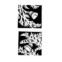 """Christmas Tree Branches and Bells [pack] (1.5"""" x 1.5"""")"""