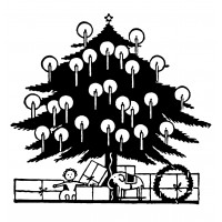 """Christmas Tree with Candles (2.5"""" x 3"""")"""