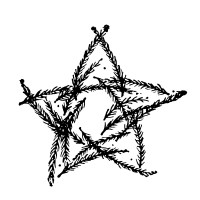 """Star from Branches (2"""" x 2"""")"""