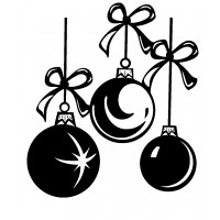 "Christmas Decorations Balls (2"" x 2"") [sml]"