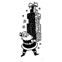 """Santa With Gifts (2"""" x 3"""")"""