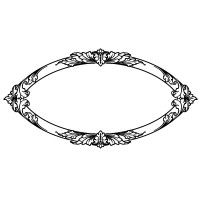 "Baroque Oval Frame (2.5"" x 4.5"")"