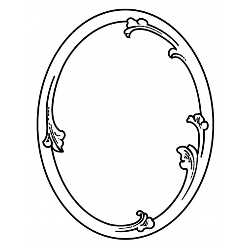 Simple Oval Frame (2.5\
