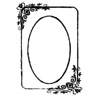 "Large Contemporary Floral Frame (3.5"" x 5"")"
