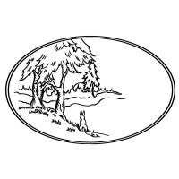 "Vintage Oval Frame with Forest and Dog (2.5"" x 3.5"")"