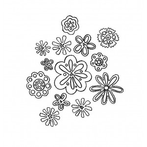 "Flowers Background [small] (2"" x 2"")"