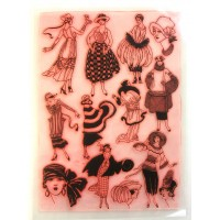 "Vintage Fashion Art Deco / Large Sheet 8""x10"""