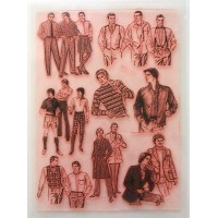 "Vintage Man Fashion / Large Sheet 8""x10"""