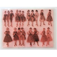 "Vintage Fashion Fifties / Large Sheet 8""x10"""
