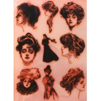 "Gibson Girl Collection 1 / Large Sheet 8""x10"""