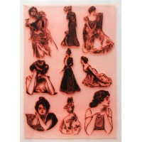 "Gibson Girl Collection 2 / Large Sheet 8""x10"""