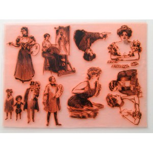 "Gibson Girl and Artist Painter Vintage Portraits / Large Sheet 8""x10"""
