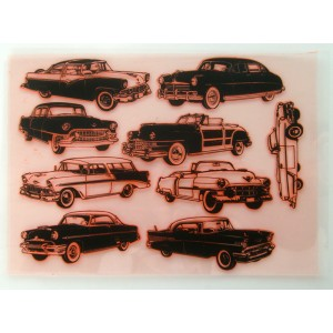 "American Retro Cars Fifties 1 / Large Sheet 8""x10"""
