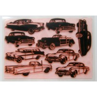 "American Retro Cars Fifties 2 / Large Sheet 8""x10"""