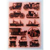 "Vintage Engravings Transport and Machines  / Large Sheet 8""x10"""