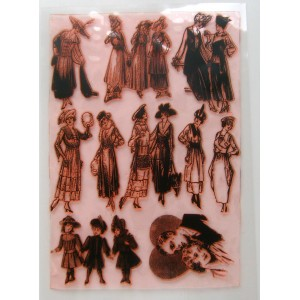 "Vintage Fashion Twenties / Large Sheet 8""x10"""