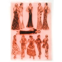"Vintage Fashion Girls Thirties / Large Sheet 8""x10"""