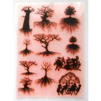 "Trees Silhouettes / Large Sheet 8""x10"""